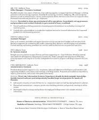 Resumes For Executive Assistants Executive Administrative Assistant