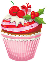 Vanilla Cupcake clipart christmas cupcake 1