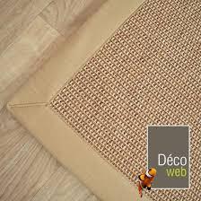 tapis coton tisse a plat tapis tissé plat lombok naturel ganse coton beige 160 x 230 cm
