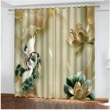 hiuyoo vorhang wohnzimmer muster kranich und blume vorhang
