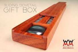 Sliding Dovetail Gift Box