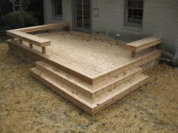 Wood Bench Designs Decks by Best 25 Small Deck Designs Ideas On Pinterest Small Decks