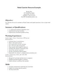 Resumes Examples For Cashier Duties Resume Grocery Store