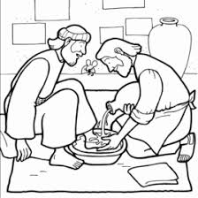 Jesus Washes The Disciples Feet Coloring Page AZ Pages