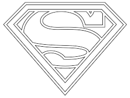 Superman Coloring Pages Printable Logo