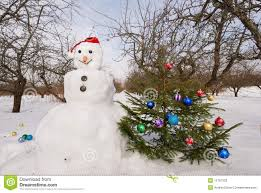 Frosty Snowman Christmas Tree by Snowman With Christmas Tree Stock Photos Image 16707333