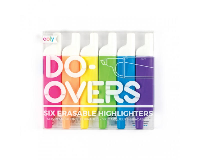 LLC Ooly Do-Overs Erasable Highlighters - Set of 6