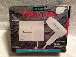 jerdon class turbo 1500 white wall mount electric hair dryer
