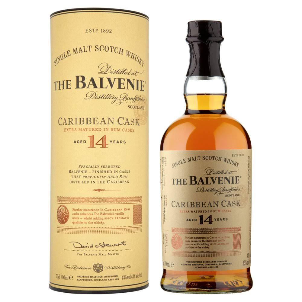 The Balvenie Caribbean Cask Aged 14 Years Single Malt Scotch Whisky - United Kingdom