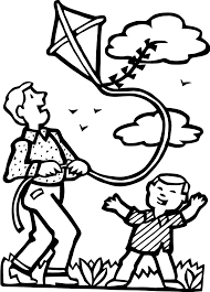 Fly Kites Coloring Pages