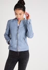 oakwood leather jacket sky blue women clothing jackets w