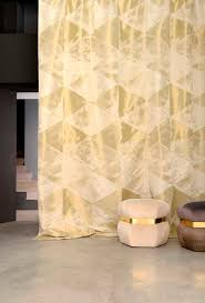 Geometric Pattern Sheer Curtains by Curtain Fabric Wall Geometric Pattern Trevira Cs Contract