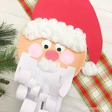 Fun Paper Plate Santa Craft