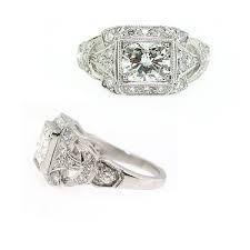 Vintage Inspired Cushion Cut Diamond Engagement Ring