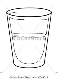 Glass Water Clipart Black And White ClipartXtras
