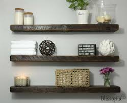6 Deep Rustic Wood Floating Shelf Blissopia