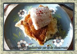 quel dessert avec une choucroute sandre cuit à l unilatérale sur lit de choucroute la cuisine de