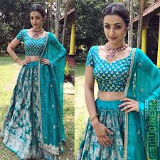 Actress Trisha Krishnan 2018 Latest HD Images Lehenga Pinterest
