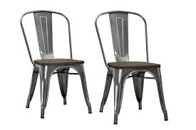 Wayfair Dining Room Side Chairs by Amazon Com Dhp Fusion Dining Chair With Wood Seat Set Of 2