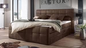 boxspringbett aspen schlafzimmer in dunkel braun 180x200