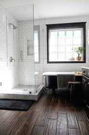 Wood Tile Bathroom Flooring 5 Bold Design Ideas Dark Rustic Floors Images