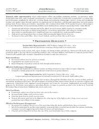 Sales Rep Sample Resume Objectives For Representative Template Pharmaceutical