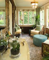 Animal Print Room Decor by Sunroom Ideas Sunroom Eclectic With Animal Print Antique Bar Bench