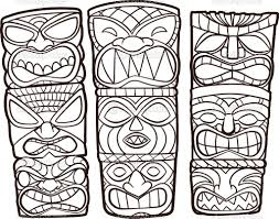Totem Poles Coloring Sheets Native Totem Pole Coloring Pages Free