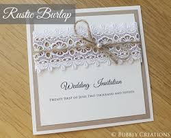 Rustic Burlap Wedding Invitation Range