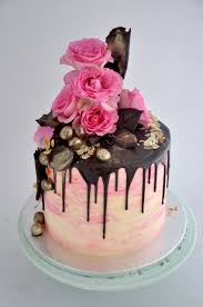 Pink Rose and chocolate Crazy Cake