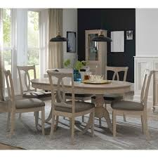 Bentley Designs Margaux Chalk Oak Extending Dining Table 6 Slatted Back Chairs Seats 48 Costco UK