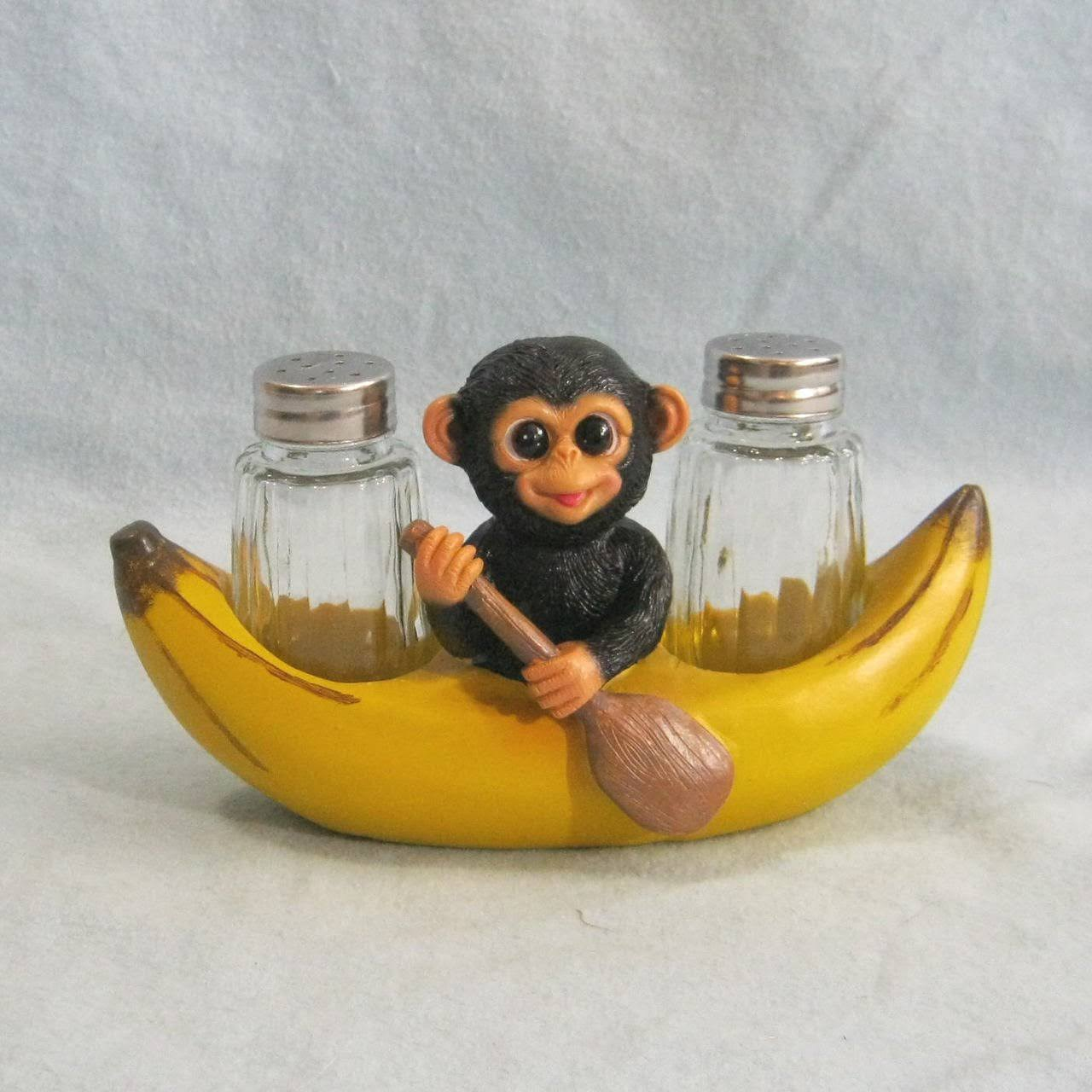 DWK 'Spice A' Peel' Monkey and Banana Salt and Pepper Shaker #248