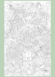 Birdhouse Nature Outdoor Zentangle Abstract Doodle Coloring Pages Colouring