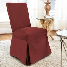 Muskoka - Full Length Dining Chair Cover - Rustic Red Cotton Slip Cover For Echo Ding Chair Oatmeal Box Cushion Slipcover Reviews Joss Main How To Make A Custom Hgtv Trendy Slipcover Removable Fniture Chairs Inspirational Delightful Easy Room Covers House Home Diy 9 Steps With Pictures Sew Or Staple Craft Buds Arm Slipcovers Less Than 30 Howtos Easygoing Stretch Parsons Protector Soft Washable M4 Pieces Square Chocolate