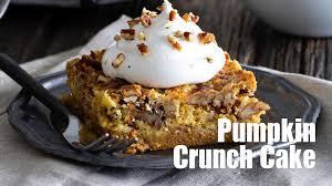 Pecan Pumpkin Bars Paula Deen by Pumpkin Crunch Cake Recipe Youtube
