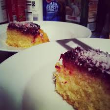 d lacer en cuisine ch cabbage crispy bacon and jammy coconut sponge