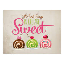 Cupcakes The Best Things In Life Are Sweet Quote Postcard