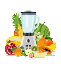Download Cooking Blender And Fruit Healthy Eating Fruits Smoothies Vector Illustration Stock
