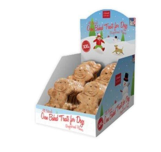 Cloud Star Holiday Gingerbread Dog Treats - XX-Large, 10 Pack