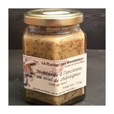 moutarde blanche en cuisine moutarde blanche au miel de châtaigner 0 22 kg le rucher des