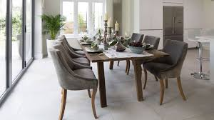 Grey Upholstered Dining Chairs With Nailheads by Gray Upholstered Dining Room Chairs Table With Leaves Chair