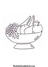 Bowl Of Fruit Coloring Page