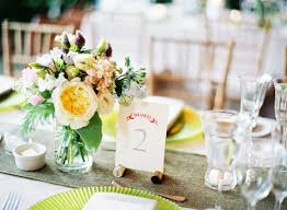 Spring Wedding Table Decorations Centerpieces Rustic Chic Manhattan Once Wed