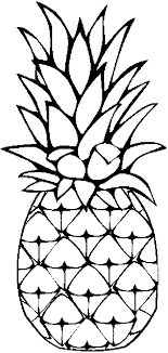 Beautiful Pineapple Coloring Page 65 In Pages Online With