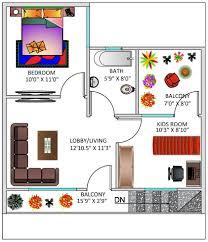 100 750 Square Foot House Floor Plan For 25 X 30 Feet Plot 3BHK Feet