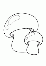 Mushrooms Vegetables Coloring Pages For Kids Printable Free