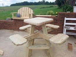 bar height picnic table w the burn look to it 2x6 and 2x4 250