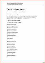 Construction Estimator Resume Samples Worker Resumeor