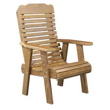 Rustic Style Wooden Lawn Arm Chair Design Idea