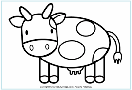 Cow Colouring Page For Kids